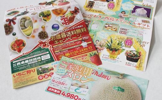 西島園芸団地様 お歳暮リーフレット(2019.10月)01