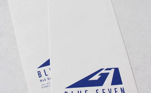 ブルーセブン株式会社様 封筒(2015.10月)